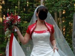 Suknia / Kryształki Swarovski (bolerko i koło w komplecie) + kamizelka i musznik