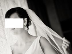 suknia mon cheri - perłowa