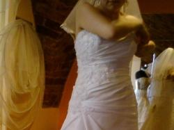 Suknia MS Moda Anabel +welon +bolerko