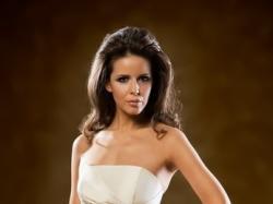 suknia Mystic model Miss, rozm38, z gniecionej tafty w kolorze ecru
