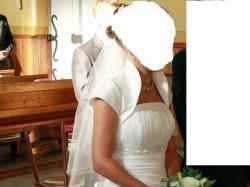 Suknia Oliwia MS Moda + bolerko + welon