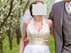 suknia, rozm 40 na 4/5 miesiąc ciąży