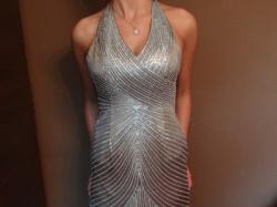 Suknia satynowa wieczorowa firmy HEXELINE