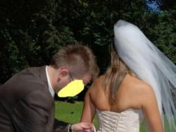 Suknia ślub rozm.40 (Marines de Paries FASIA)ecru