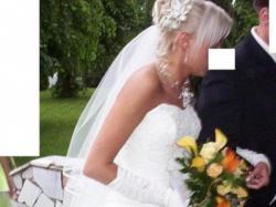 suknia ślubna 2 częściowa w kolorze ecru polecam