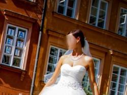 suknia ślubna + 2 welony i bolerko gratis