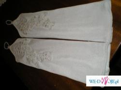 Suknia ślubna 3 cześciowa biała z dodatkami