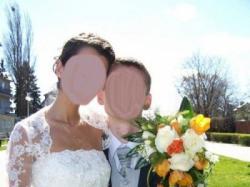 Suknia ślubna 34/36 TREN koronkowe BOLERKO z salonu Madonna