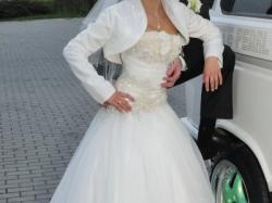 suknia ślubna 34/36 wzrost 160 + obcas