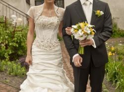 Suknia ślubna 36-38 ecru