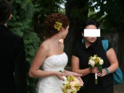 Suknia ślubna 36/38 Herms LINSOR oraz biżuteria Biała Magia