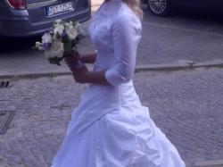 Suknia ślubna 36 38 i bolerko La Mariette + GRATISY!