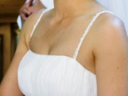 Suknia ślubna 36/38 - skromna, elegancka