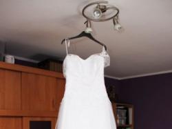 Suknia ślubna 36/38 wzorowana na justin alexander 8630 koronkowo-tiulowa