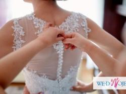 Suknia ślubna 36 śmietankowa jak Justin Alexander