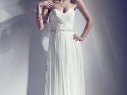 Suknia ślubna 38/40 prosta minimalistyczna prawdziwy zwiewny muślin