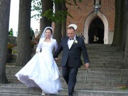 Suknia ślubna (38/40) ze wszystkimi akcesoriami; WARTO