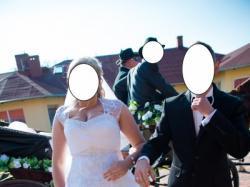 Suknia ślubna 42/44 Swarovski koronka, Piękna!