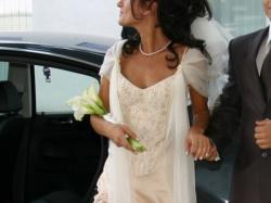 Suknia ślubna a'la rybka kolor cappuccino