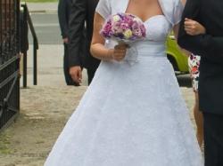 suknia ślubna agnes 11323, koronkowa