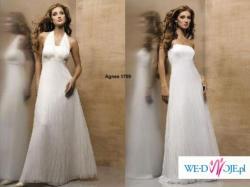 Suknia ślubna AGNES 1709, rozmiar 40 + 2 welony i halka