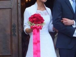 Suknia ślubna Agnes / biała koronka