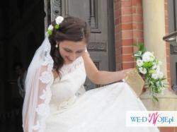 Suknia ślubna Agnes koronkowa 38 +Gratisy
