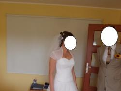 Suknia Ślubna Agnes rozm. 38 zdobiona perełkami + bolerko