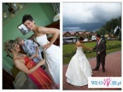 suknia ślubna AGORA 2007+GRATISY r.38 ecru
