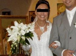 suknia ślubna AGORA z kryształkami Svarowskiego, roz.36