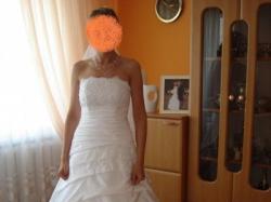 Suknia Ślubna AIZZA z kolekcji Gala 2008 kolor BIAŁY
