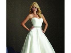Suknia Ślubna, Allure, tafta, kryztałki, księżniczka