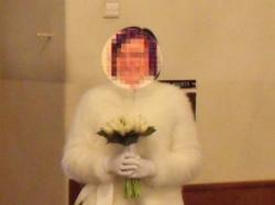 Suknia ślubna Anna Kara i futerko zimowe