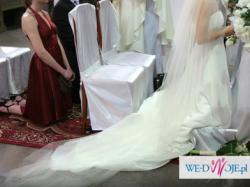 Suknia ślubna ANNA Z TRENEM z kolekcji MANUEL MOTA z salonu MADONNA