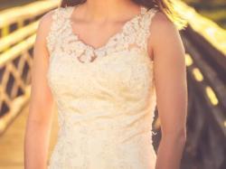 Suknia ślubna ANNAIS BRIDAL Elisha Koronkowa ecru 34-36 kremowa