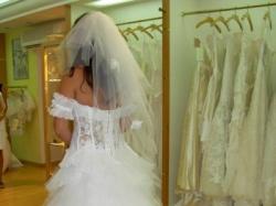 Suknia ślubna BANJO kolekcja 2008 firmy CYMBELINE sprowadzana z Francji
