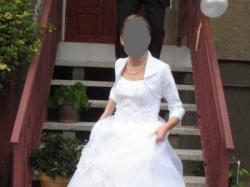 Suknia ślubna biała 172 cm 36/38