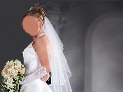 Suknia ślubna, biała, 38 do regulacji , na ok.165 cm,sprzedam
