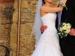 suknia ślubna biała, ciąża