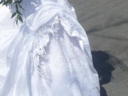Suknia ślubna biała długa gorset princeska