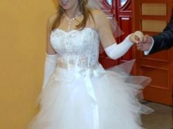 suknia ślubna biała + dodatki, kolekcja 2011