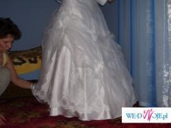 Suknia Ślubna biała, dwuczęściowa