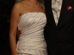 Suknia ślubna biała firmy AGNES z trenem