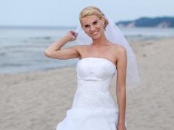 Suknia ślubna-biała + GRATIS DODATKI, rozmiar 36/38