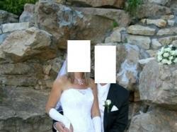 Suknia ślubna biała+gratisy