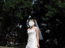 suknia ślubna biała, jednoczęściowa