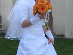 Suknia ślubna,biała,jednoczęściowa,lekka