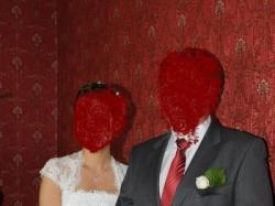 Suknia ślubna biała koronkowa