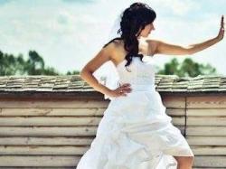 Suknia ślubna biała krótka z przodu