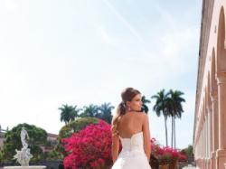 Suknia ślubna biała księżniczka tren